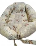 Бебешко гнездо/ порт бебе от ранфорс, 80 Х 50 см